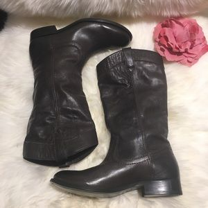 Frye Melissa Pull On Smoke Boot size 6 NWOB
